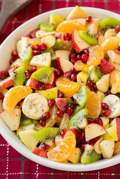 15 Must-Have Menu Items For Christmas Brunch Winter Fruit Salad with Lemon Poppy Seed Dressing: Save yourself time by making the lemon poppy seed dressing days ahead and adding it to your salad minutes before you serve. Find more easy,… Continue Reading → Christmas Brunch Menu, Christmas Breakfast, Lemon Poppy Seed Dressing, Lime Dressing, Salad Dressing, Winter Fruit Salad, Christmas Fruit Salad, Christmas Fruit Ideas, Fall Salad