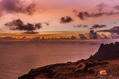 Spectacular sunrise in St Helena, South Atlantic Islands