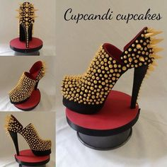 Spiked Shoe Cake Topper
