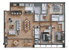 Sims House Plans, Dream House Plans, House Floor Plans, My Dream Home, Layouts Casa, House Layouts, Plan Ville, Small Modern House Plans, Model House Plan