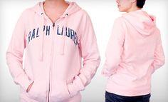 DEAL:$20 for a Women's Ralph Lauren Millie Sueded Hoodie in Pink ($69.50).