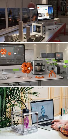 The Micro is a consumer desktop 3D printer, because it literally fits on your desk!