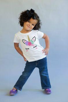76d4e43ab3742a Girls Unicorn Shirt - Unicorn Girls Top - Unicorn Outfit - Unicorn Party  Ideas - Unicorn Gift - Unicorn Clothing