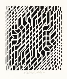 garadinervi - Victor Vasarely, Untitled,  Screenprint on paper,...