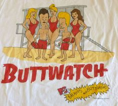 Beavis and Butthead - Baywatch Adult Cartoons, Cool Cartoons, Mike Judge, Funny Memes, Hilarious, Pop Characters, Good Humor, Comedy Movies, I Am Bad
