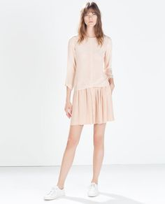 CREPE SKIRT WITH FRONT BUTTONS from Zara