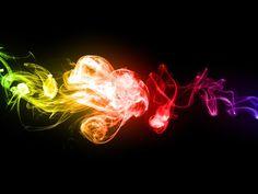 Multi Colored Weed Smoke