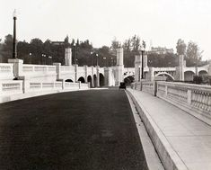 Glendale Hyperion Bridge c. 1935?  Love this photo. Huge fully grown trees obscure the view today.