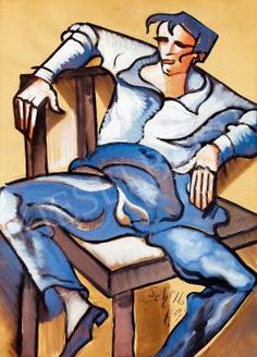 Vagabond Sitting on a Chair by Hugó Scheiber Disney Characters, Fictional Characters, Aurora Sleeping Beauty, Disney Princess, Chair, Artist, Recliner, Artists, Fantasy Characters