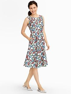 Talbots - Butterfly-Print Dress | Spring 2015 $169/84.50 on sale 4/25/15