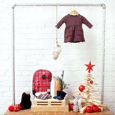 $50 & Under • mini mioche gathered tunic • Kikku Mitts • Headmistress Hand Knit Toque • Herschel Heritage Backpack • Toms Woollen Slippers • S'well Bottle • mini mioche winter booties • Bunny Rattle