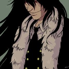 Alucard from the newsest chapter of Hellsing, I name the, Furcard! Character Art, Character Design, Hellsing Alucard, Hot Anime Guys, Wallpaper Pictures, Anime Sketch, Jack Frost, Anime Naruto, My Sunshine