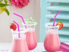 Mocktails for Kids - Non-Alcoholic Cocktails Non Alcoholic Cocktails, Summer Cocktails, Kid Drinks, Party Drinks, Flamingo Party, Sugar Free Eating, Mocktails For Kids, Coconut Dream, Sparkling Drinks