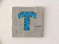 HeyLeuk : Letter schilderij van papieren rolletjes, rolled paper