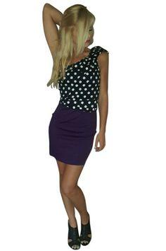 100% Cotton Polka Dot Dress Off Shoulder!