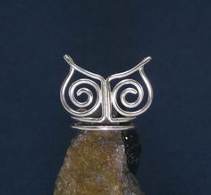 925 sterling silver owl symbol wire wrapped multi by artstudio88