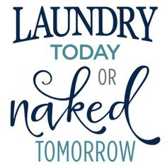 Silhouette Design Store - View Design #120692: laundry today naked tomorrow phrase