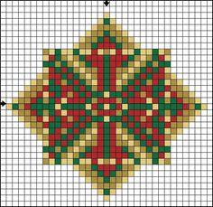 Image result for graficos ponto cruz natal papai noel