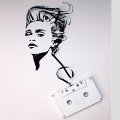 Madonna made from cassette tape