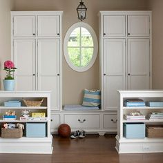 mudroom mudroom #mudroom  This would be so awesome if the space where the window is was wide enough for the washer and dryer