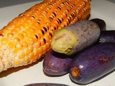 Roasted corn and Ube (African bush pear) Nigerian Food, Roasted Corn, Ube, What Is It Called, Hors D'oeuvres, Pear, Appetizers, African, Snacks