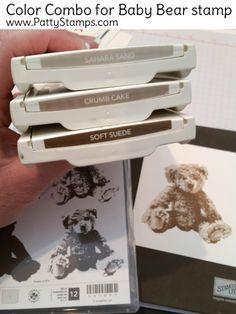 Patriotic Baby Bear Card - Stampin' Up!