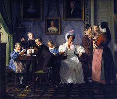 The Waagepetersen Family by Wilhelm Marstrand (Danish, Copenhagen 1810–1873 Copenhagen)