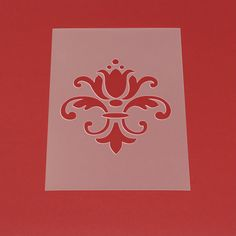 Schablone Damask Barock Muster Ornament - MO24 von Lunatik-Style via dawanda.com                                                                                                                                                                                 Mehr