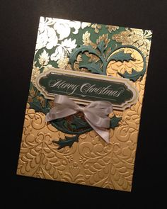 RESERVED FOR DIANE: Elegant Dimensional Christmas Card with Pearlescent and Gold…