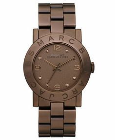 Marc by Marc Jacobs Watch, Women's Amy Brown Ion Plated Stainless Steel Bracelet 36mm MBM3119 - Brown Metal Watches - Jewelry & Watches - Macy's
