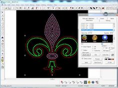 WinPCSIGN 2012 - Convert shape & text into rhinestones pattern