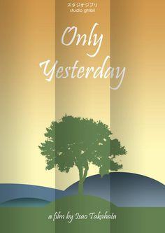 Only Yesterday [IsaoTakahata, 1991] «Studio Ghibli Minimal Movie Posters Author: Craig Mckeown»