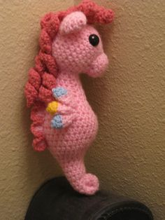 mlp crochet | Pinkie Pie Sea Pony Crocheted MLP Amigurumi Plush - My Little Pony ...