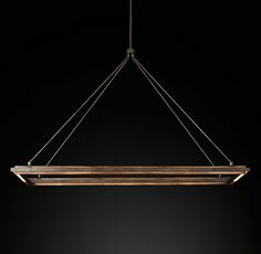 Peralta Linear Chandelier 62 x 20 up to tall (forged iron) Industrial Chandelier, Round Chandelier, Iron Chandeliers, Linear Chandelier, Industrial Lighting, Cove Lighting, Linear Lighting, Strip Lighting, Modern Lighting
