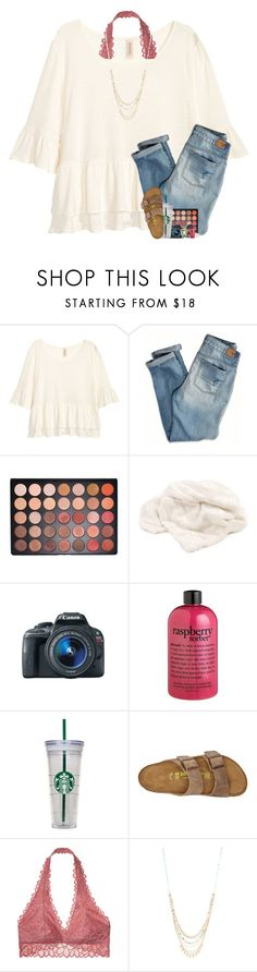 """""""sleeping over at a friends house tonight"""" by sanddollars ❤ liked on Polyvore featuring H&M, American Eagle Outfitters, Morphe, Howard Elliott, Eos, philosophy, WALL, Birkenstock, Victoria's Secret and Lane Bryant"""