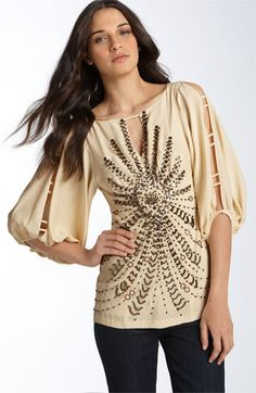 0c820addce Nanette Lepore  World Tour  Beaded Top