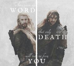 Kili & Fili brothers to the death. Beyond pissed by the way they died in the Hobbit. Kill them sure, that's in the book. But really? Changed what Kili died for? Cheap.