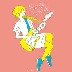 今日はミュージックの日🎸 #illustration #イラスト #ミュージックの日