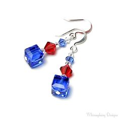 Star Spangled Red White & Blue Crystal by whimsydaisydesigns, $24.00