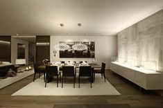 dim lighting dining room