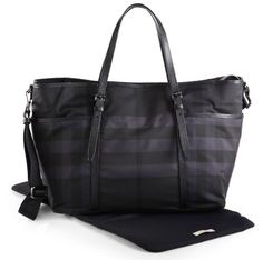 9553aa19dc Burberry Grace Nylon Check Diaper Bag Baby Gadgets