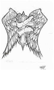 Wings and cross