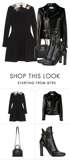 """Untitled #5092"" by beatrizvilar ❤ liked on Polyvore featuring RED Valentino, Yves Saint Laurent, STELLA McCARTNEY and Versace"