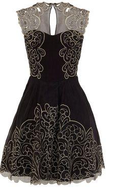 Karen-Millen-Black-Baroque-Cutwork-Lace-Tutu-Dress