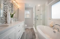 Steveston Detached Home - transitional - Bathroom - Vancouver - The Spotted Frog Designs