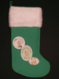 Classic Winnie the Pooh Christmas Stocking