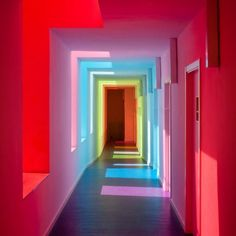 blazepress:  White walls and coloured glass results in this.