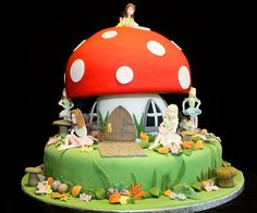 1000 images about fairy garden birthday on pinterest for Fairy garden birthday cake designs