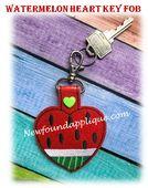 In The Hoop Heart Key Fob FlipFlop Embroidery Machine Design - Newfound Applique Applique Embroidery Designs, Machine Embroidery Applique, Cat Key, Machine Design, Key Fobs, Picture Design, Free Design, Watermelon, Hoop