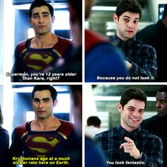 """""""Speaking of age, I've been meaning to ask..."""" #Supergirl #Season2 #2x01"""